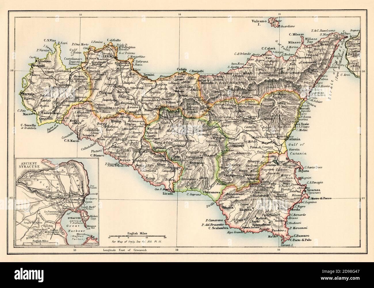 Cartina Ferroviaria Sicilia.Mappa Sicilia Immagini E Fotos Stock Alamy