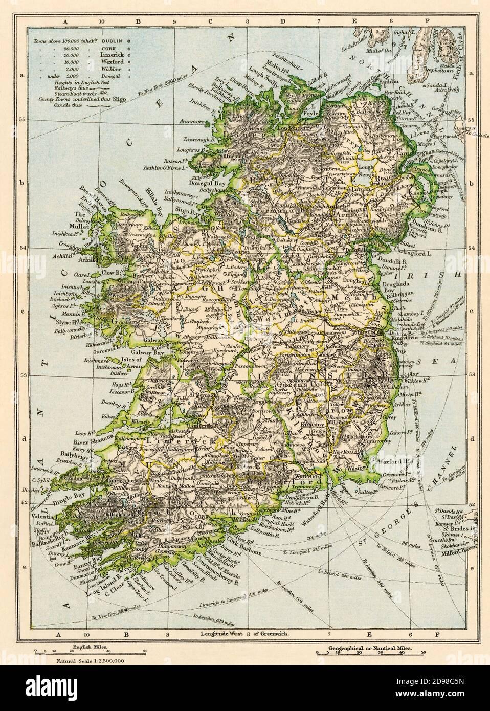 Irlanda Cartina Turistica.Mappa Irlanda Immagini E Fotos Stock Alamy