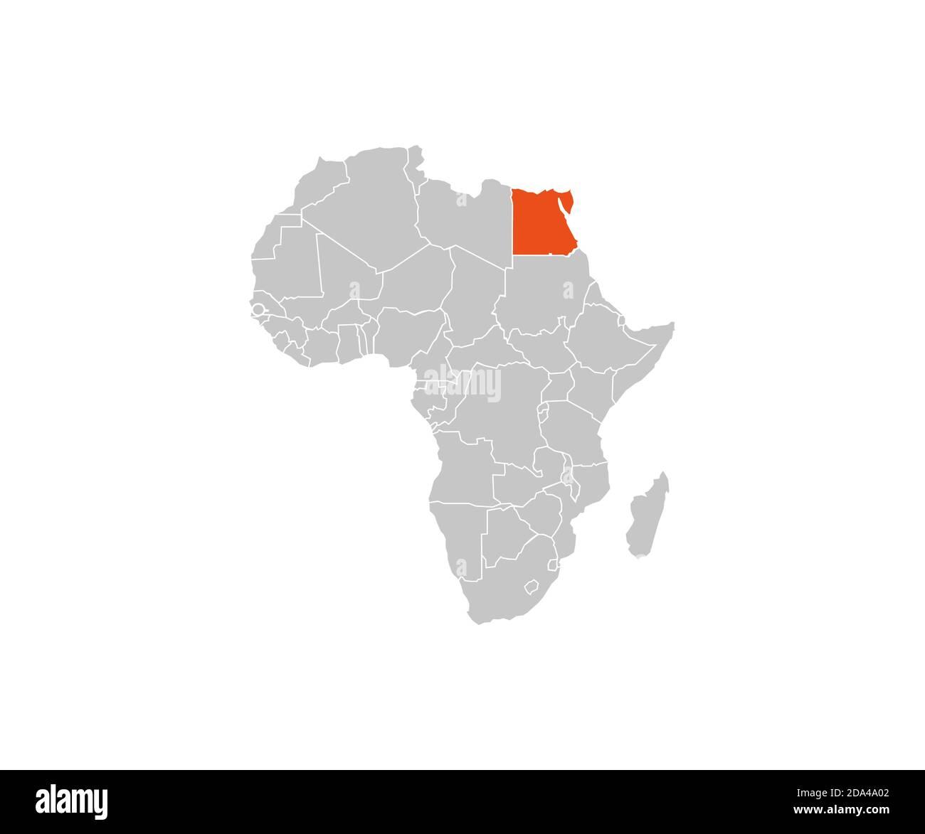 Cartina Africa Egitto.Egitto Su Africa Mappa Foto Stock Alamy