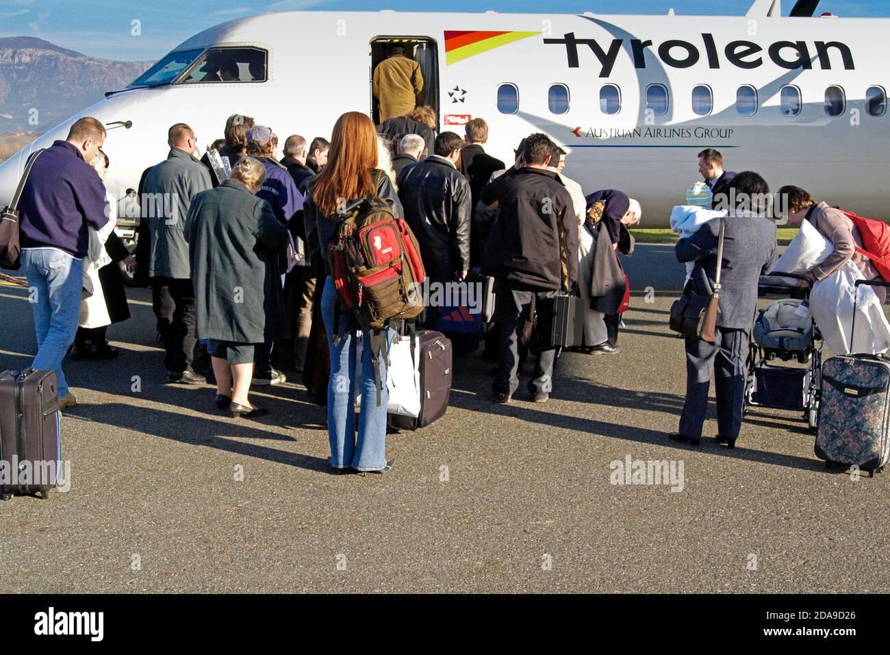 Aeroporto internazionale di Madre Teresa, Tirana, Albania Foto Stock