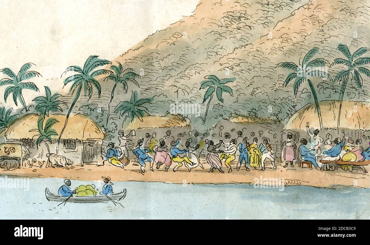 JOHN BULL HA UNA CHIARA VISIONE DELLA SCHIAVITÙ NEGRO DOMANDA - sezione del fumetto altamente dettagliato 1826 a favore della schiavitù Di George Cruickshank Foto Stock