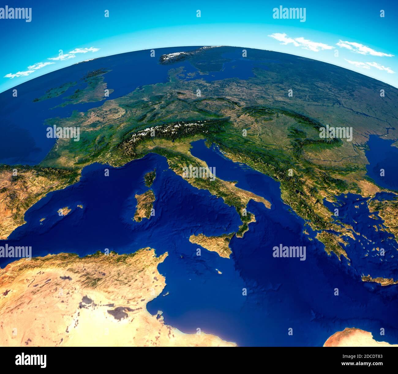 Cartina Satellitare Sardegna.Vista Satellitare Sardegna Immagini E Fotos Stock Alamy