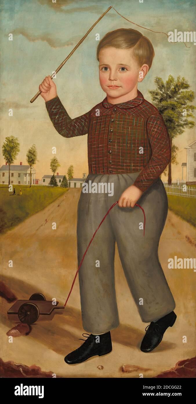 Joseph Goodhue Chandler, (pittore), americano, 1813 - 1884, Charles H. Sisson, 1850, olio su tela, totale: 122.2 x 63.7 cm (48 1/8 x 25 1/16 in.), incorniciato: 137.8 x 79.7 x 6.3 cm (54 1/4 x 31 3/8 x 2 1/2 in Foto Stock