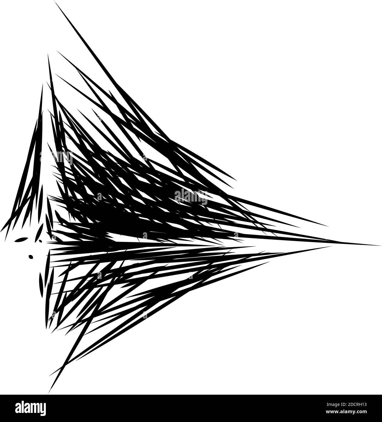 Formazione astratta composta da linee casuali. Elemento Art astratto. Bianco e nero: Illustrazione vettoriale senza royalty, clip-art Illustrazione Vettoriale