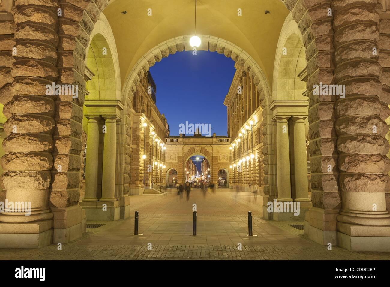 Geografia / viaggio, Svezia, Stoccolma Laen, Stoccolma, Riksgatan sul parlamento, Helgeandsholmen, S, diritti aggiuntivi-liquidazione-Info-non-disponibile Foto Stock