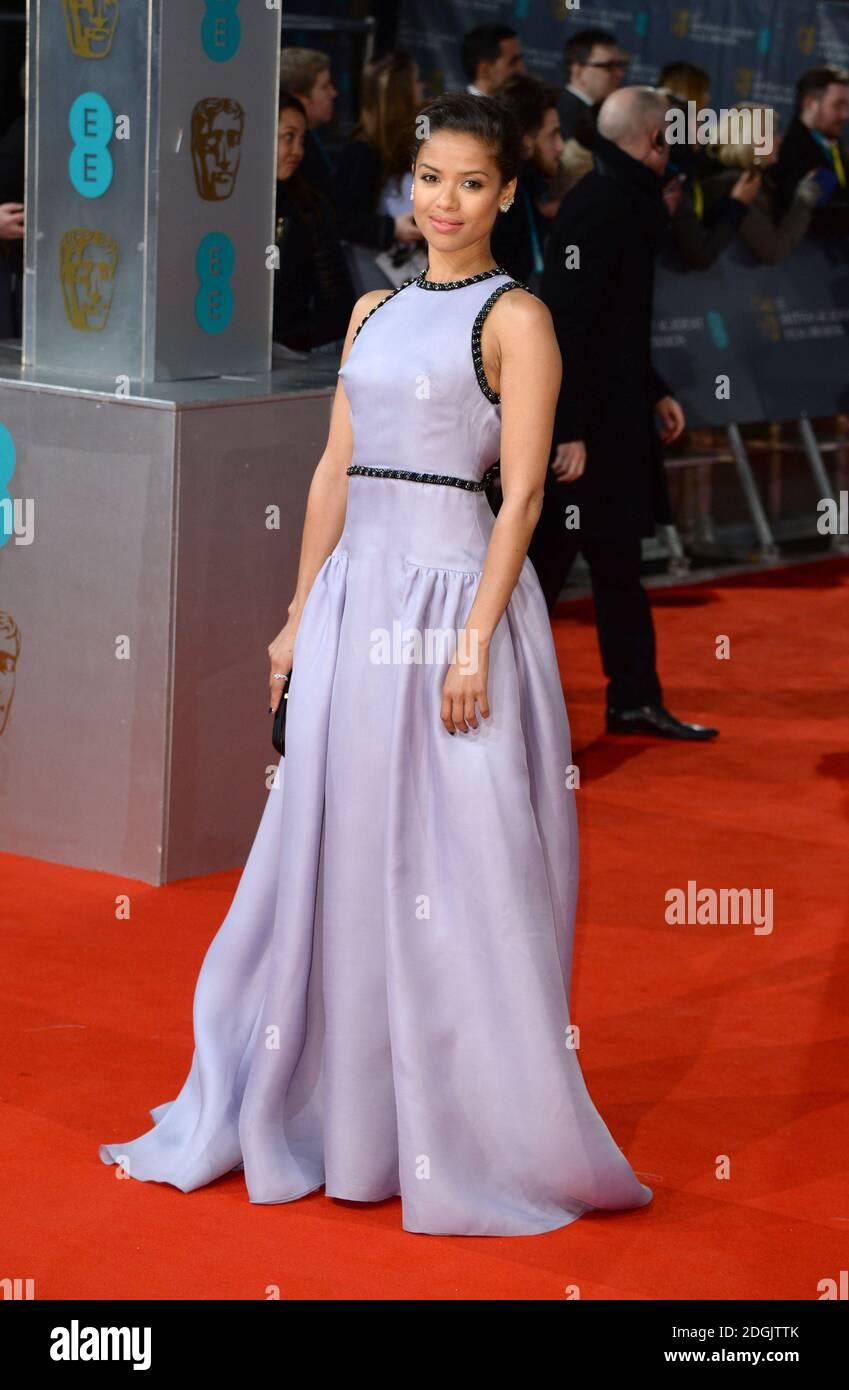 Gugu Matha-Raw partecipa all'EE British Academy Film Awards 2015 che si tiene alla Royal Opera House di Covent Garden, Londra UK. Foto Stock