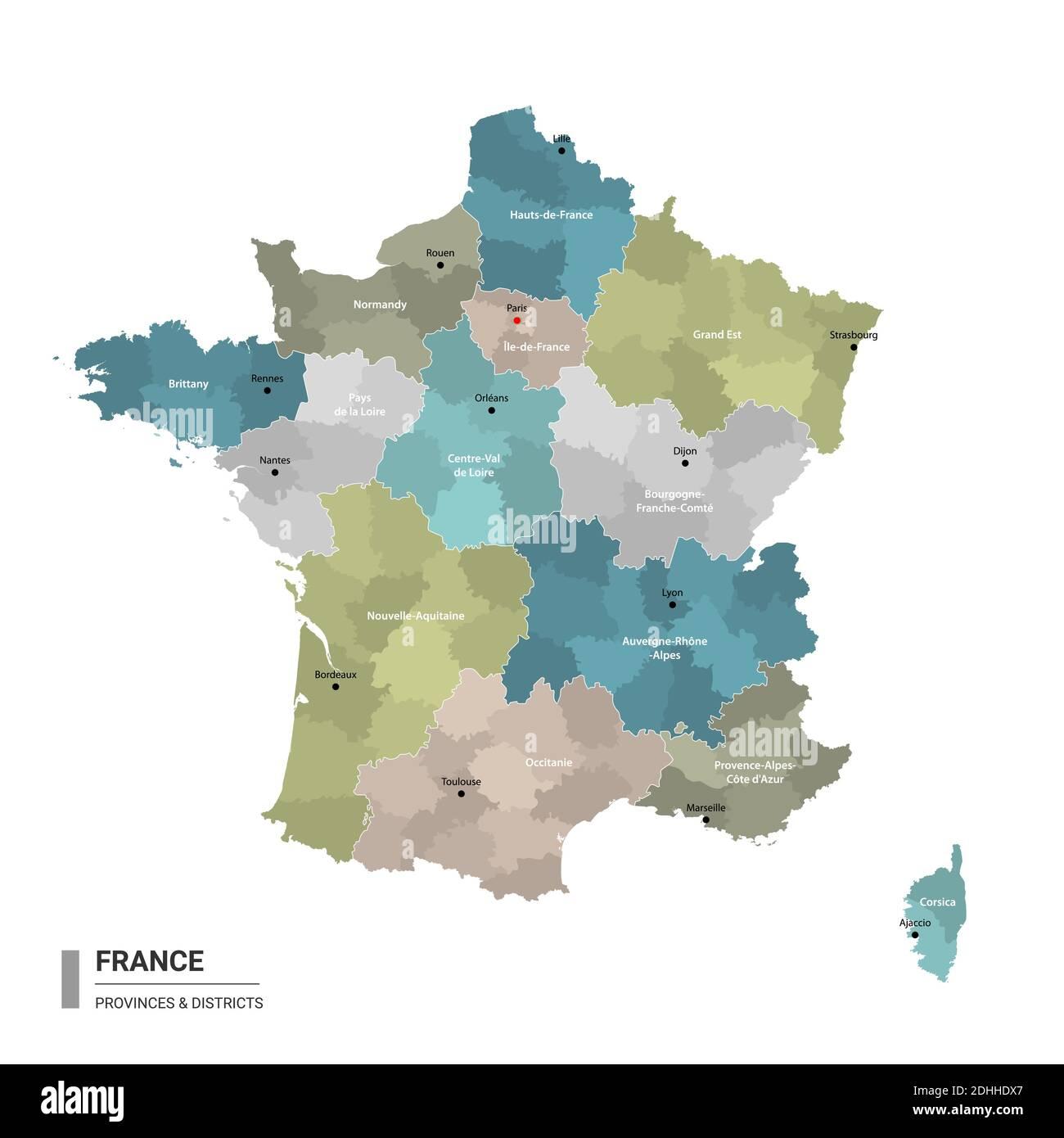 Cartina Francia Sud Dettagliata.Ile De France Map Vector Immagini E Fotos Stock Alamy