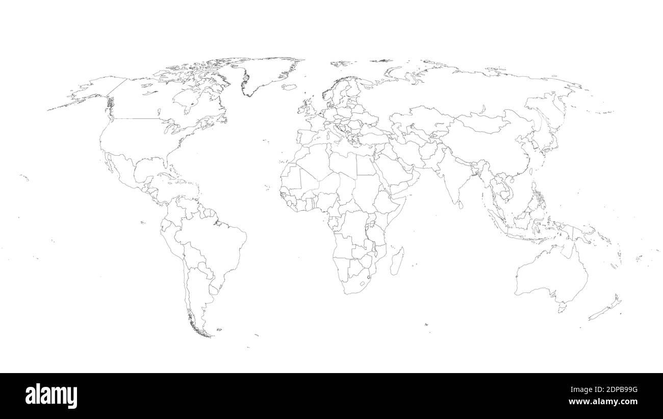 Cartina Mondo Vuota.Vettori Vettoriali Mappamondo Immagini E Fotos Stock Alamy