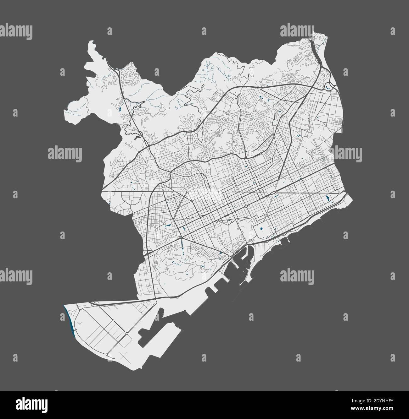 Cartina Barcellona Dettagliata.Map Of Barcelona Immagini E Fotos Stock Alamy