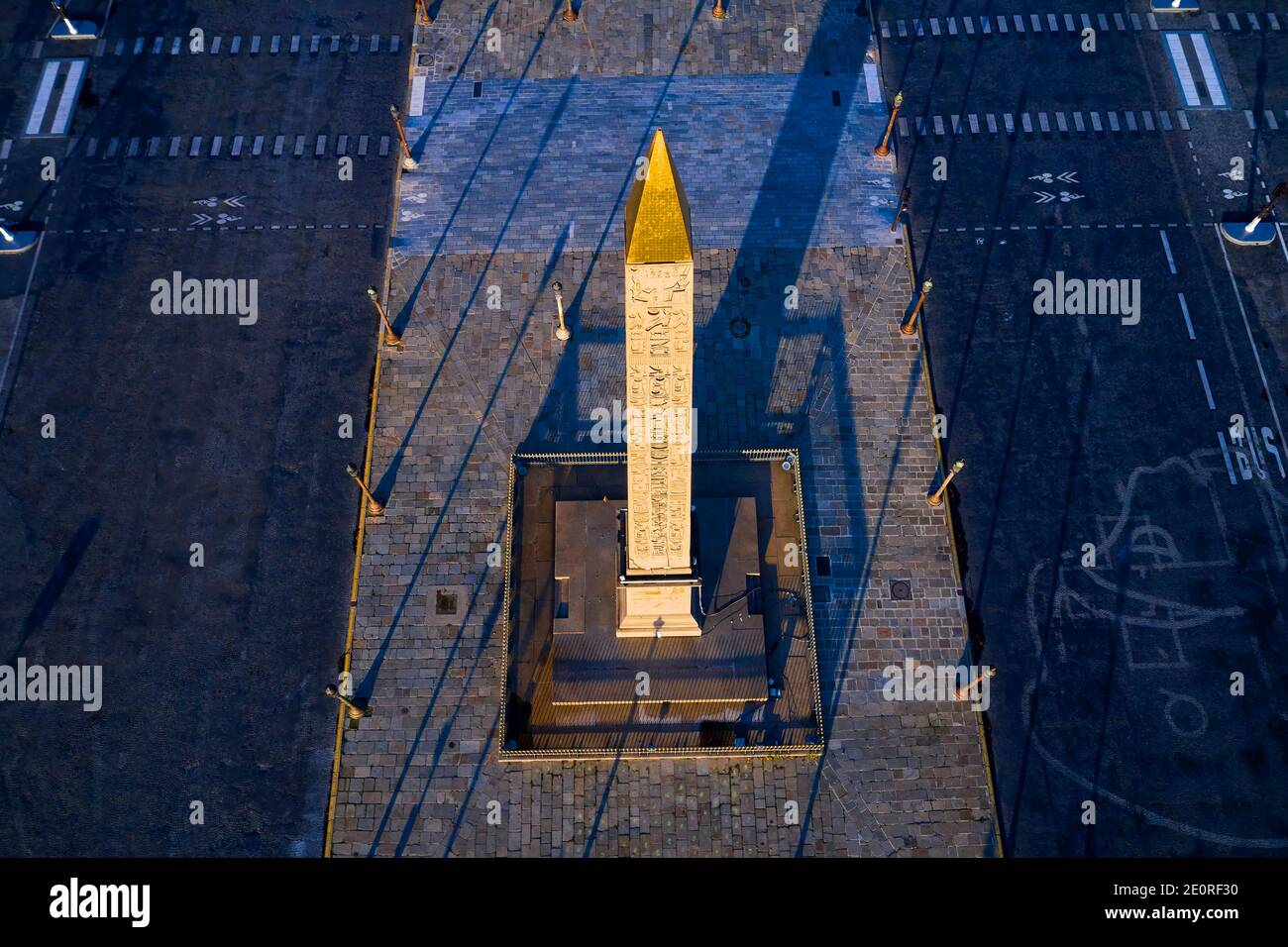 Francia, Parigi (75), Place de la Concorde, zona classificata come Patrimonio dell'Umanità dall'UNESCO Foto Stock