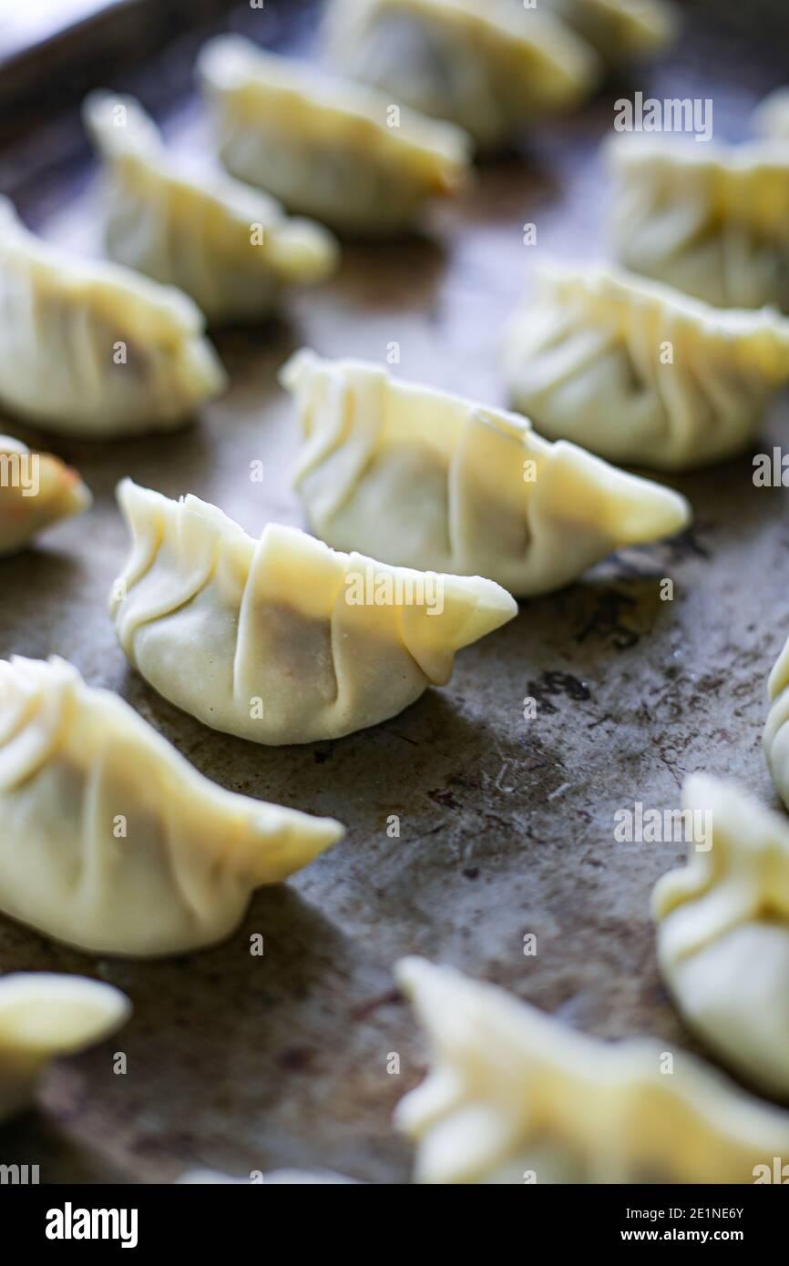 Gnocchi gyoza Foto Stock
