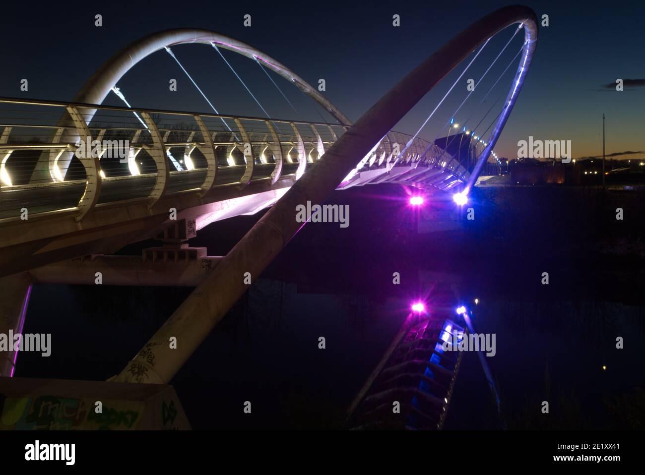 Il Clyde SmartBridge a Glasgow, Dalmarnock Smart Bridge. Foto Stock
