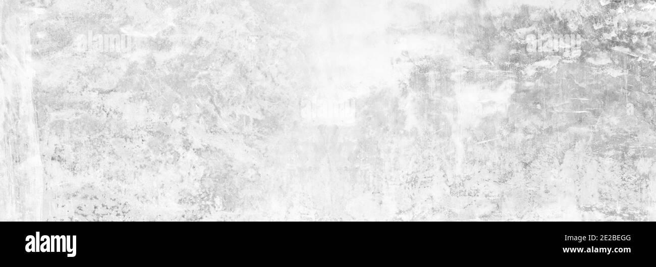 Vernice grigia panoramica calcare texture sfondo in bianco cucitura bianca home muro carta. Piano posteriore ampio pavimento in pietra di cemento piano concetto surreale grani Foto Stock