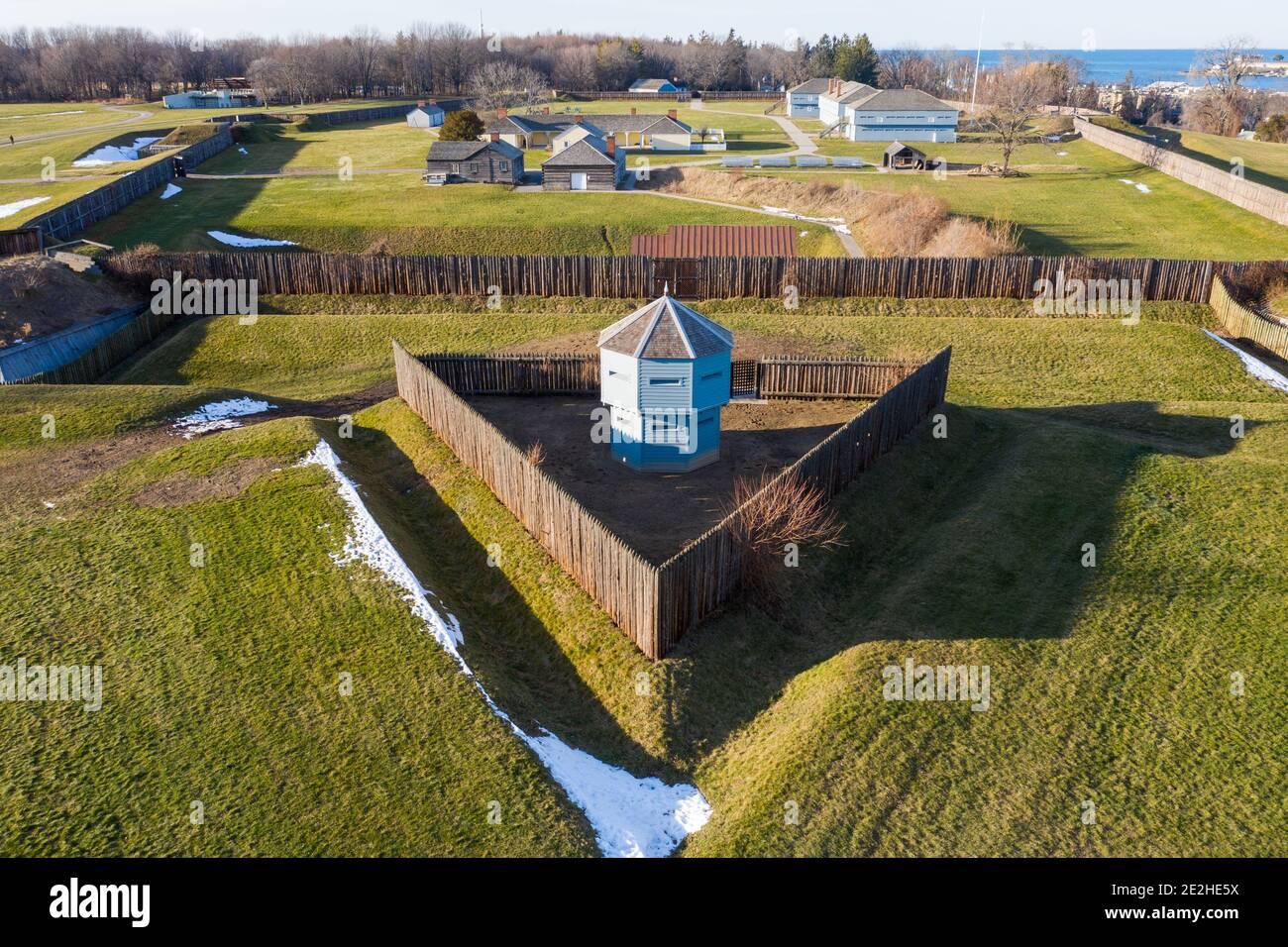Sito storico nazionale di Fort George, Niagara-on-the-Lake, Ontario, Canada Foto Stock