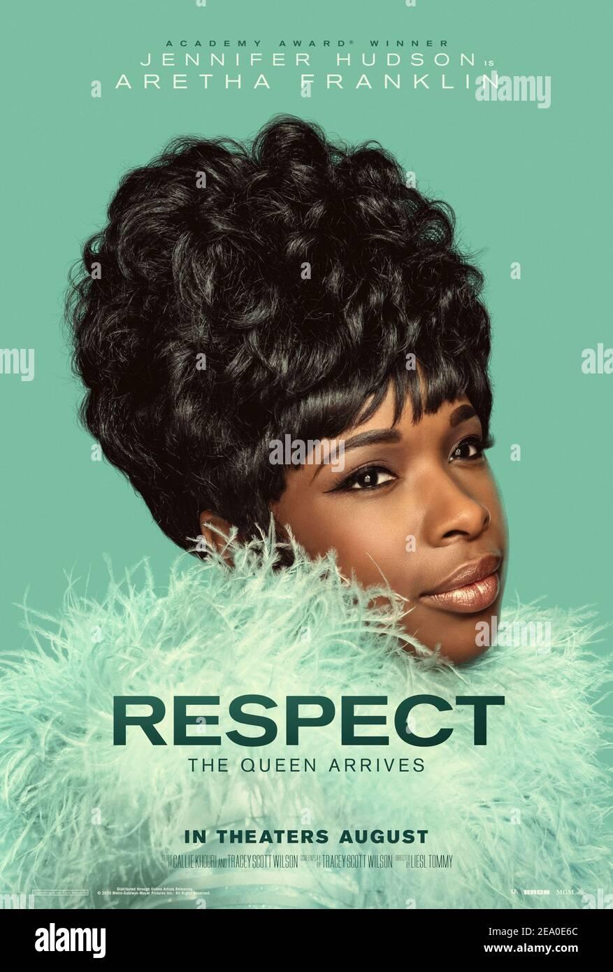 RESPECT (2020) diretto da Liesl Tommy e interpretato da Forest Whitaker, Tate Donovan, Marlon Wayans e Jennifer Hudson. Biopic circa la cantante di R&B Aretha Franklin che sceglie Jennifer Hudson per giocarla. Foto Stock