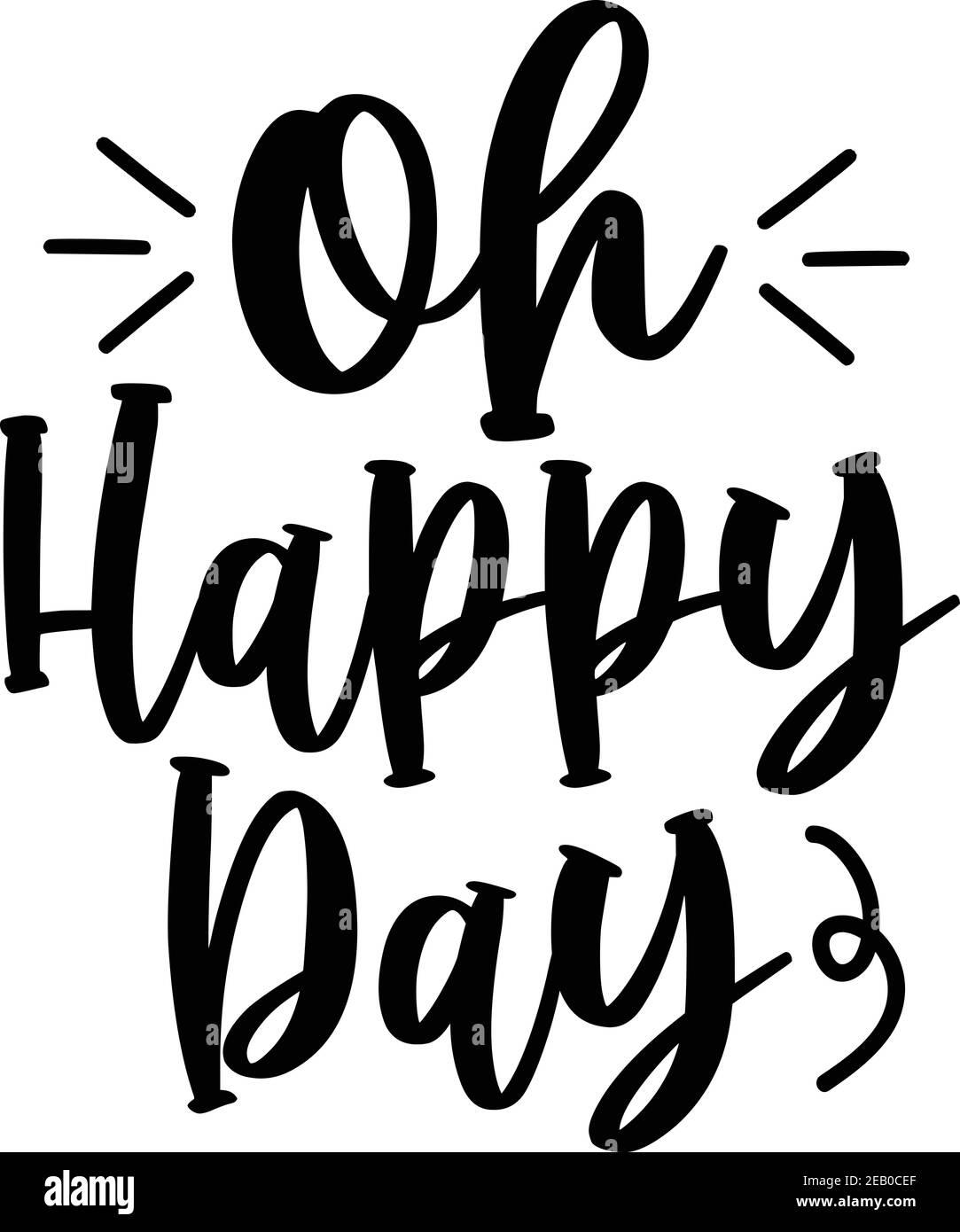 OH Happy Day, file vettoriale Illustrazione Vettoriale