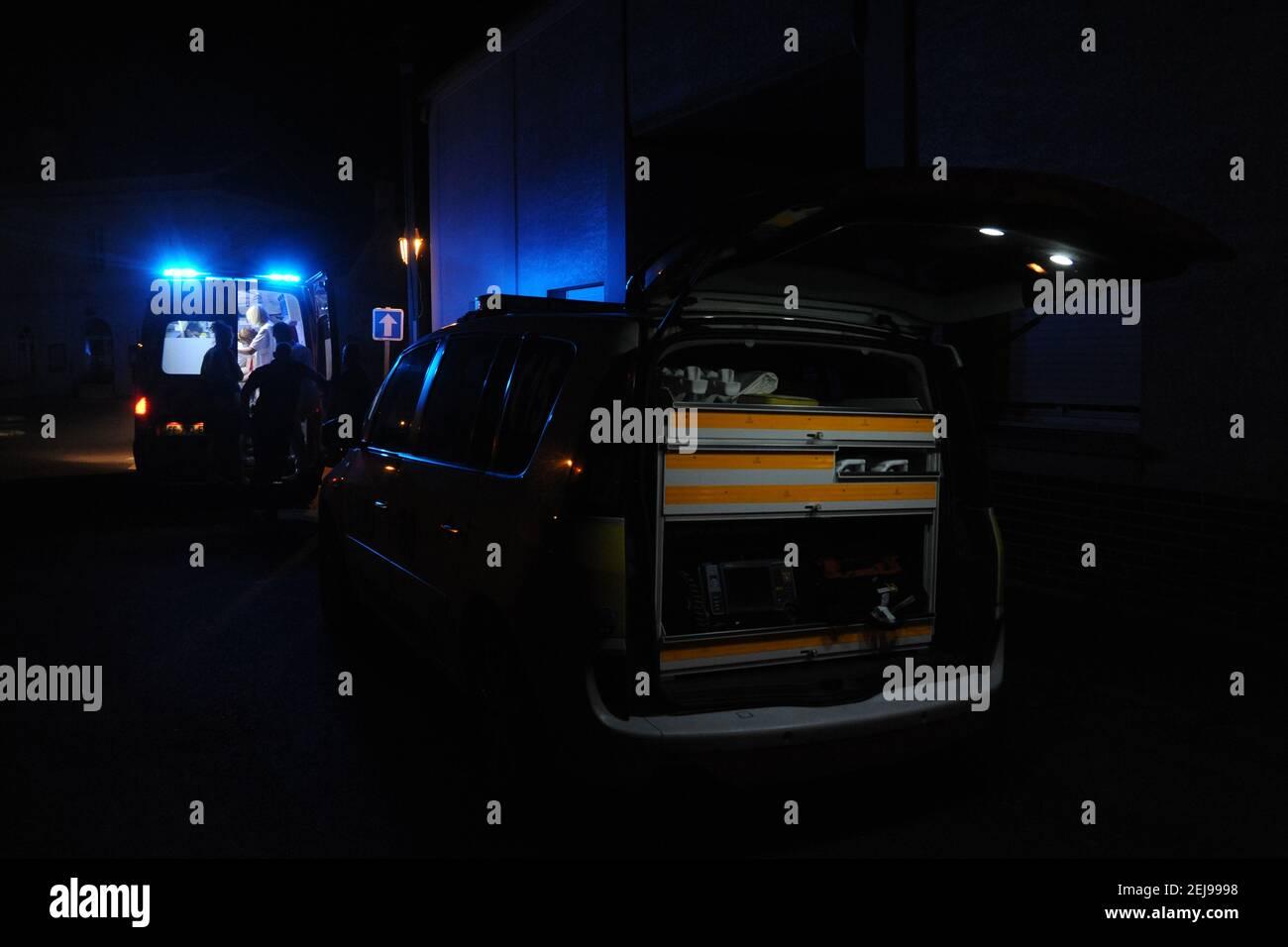 Pronto soccorso - samu 80 - Sdur d'abbeville Dipartimento della somme (80) Foto Stock