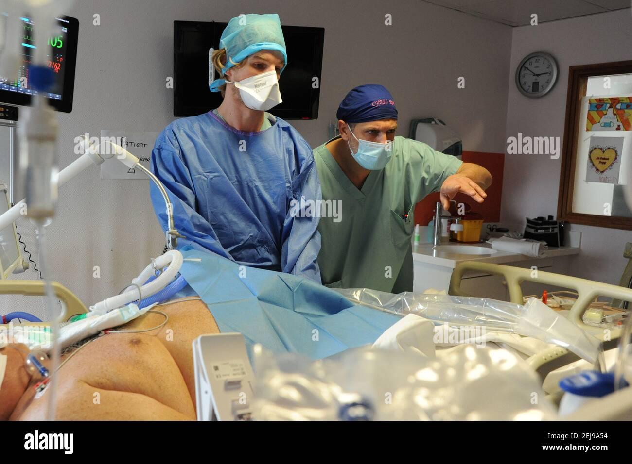 Unità di terapia intensiva medica Foto Stock