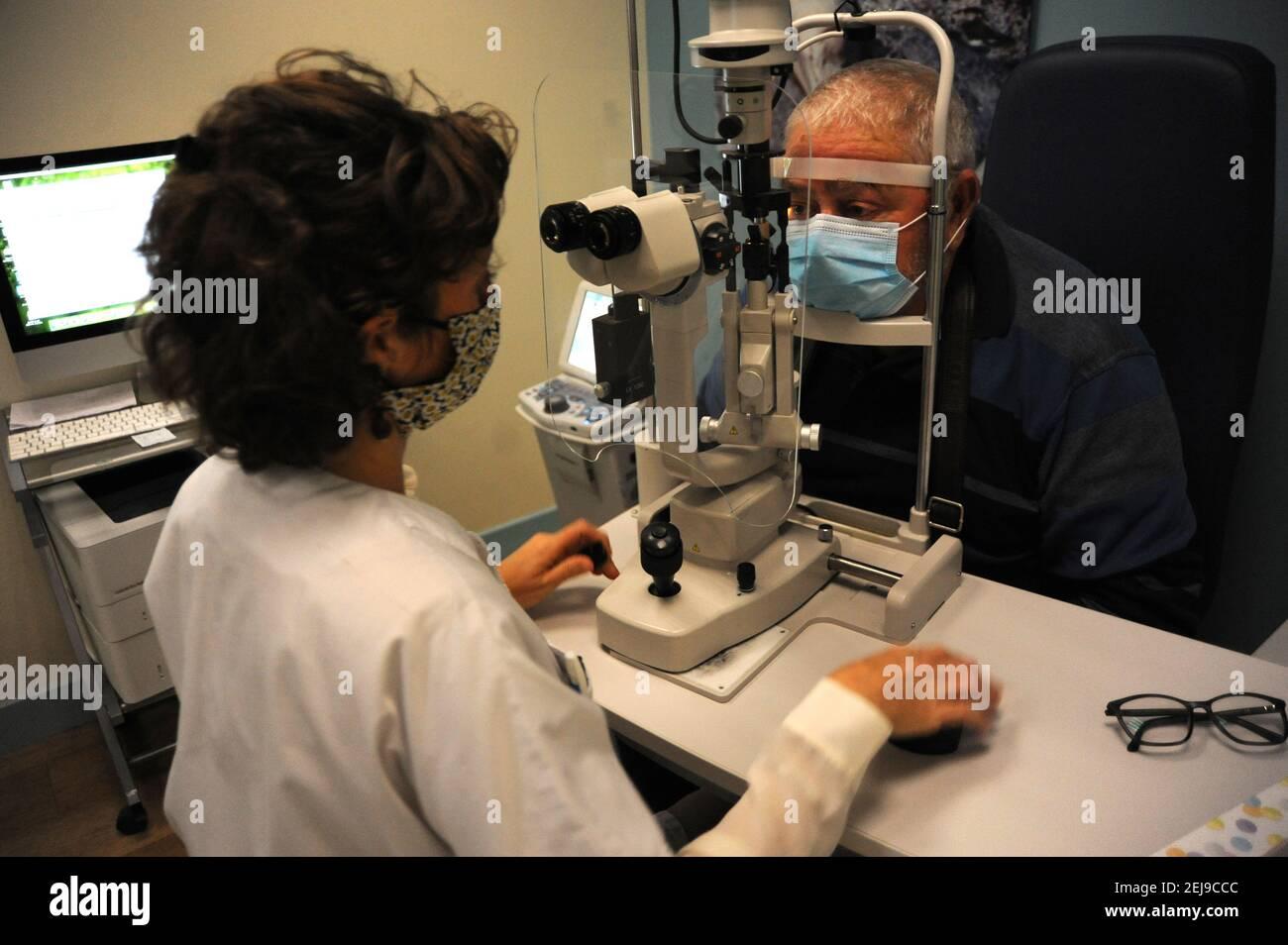 Ufficio di oftalmologia Foto Stock