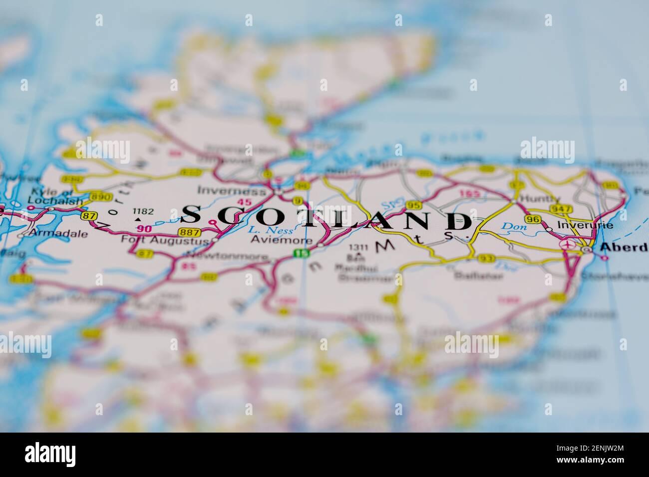 Cartina Stradale Della Scozia.Mappa Scozzese Immagini E Fotos Stock Alamy