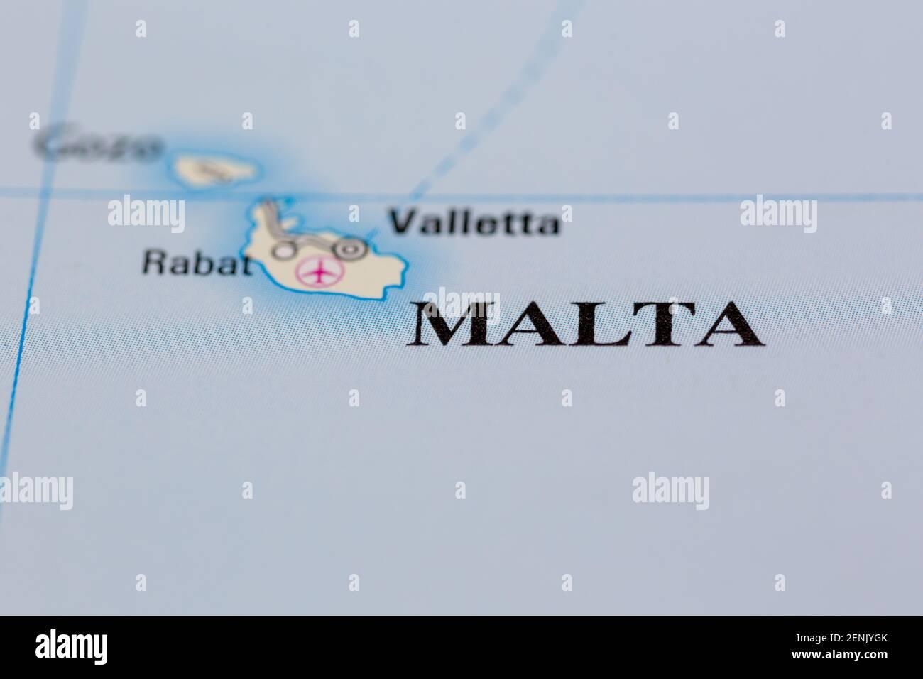Malta Cartina Stradale.Carta Stradale Malta Immagini E Fotos Stock Alamy