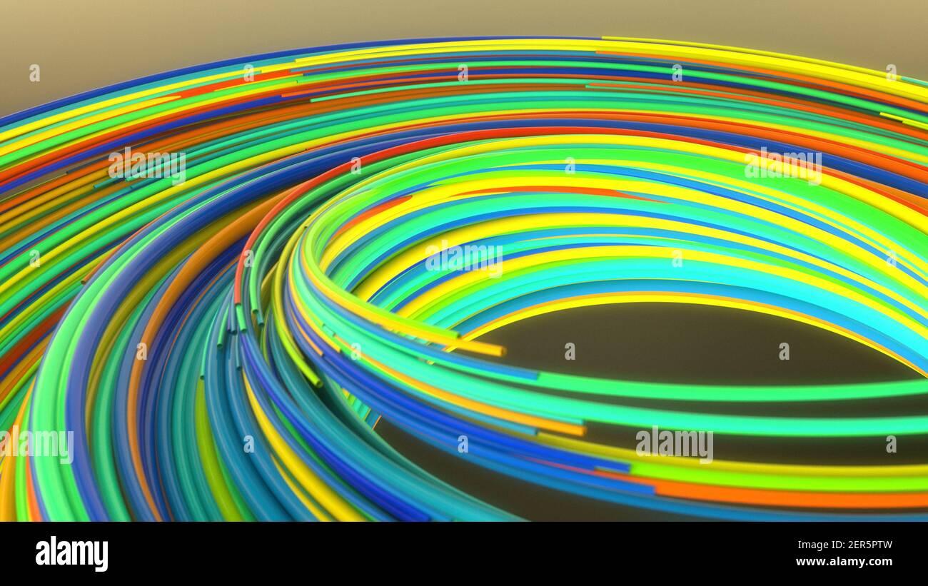 Il rendering 3d. Topografia astratto e colori Foto Stock