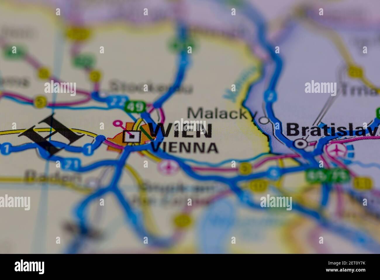 Cartina Austria Stradale.Mappa Di Vienna Immagini E Fotos Stock Alamy