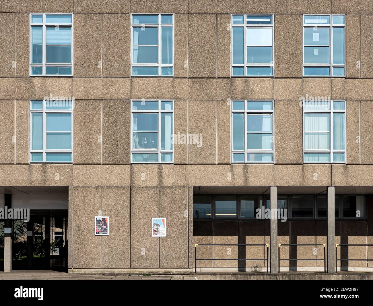 Architettura brutalista del Vanbrugh College, Università di York, Regno Unito Foto Stock