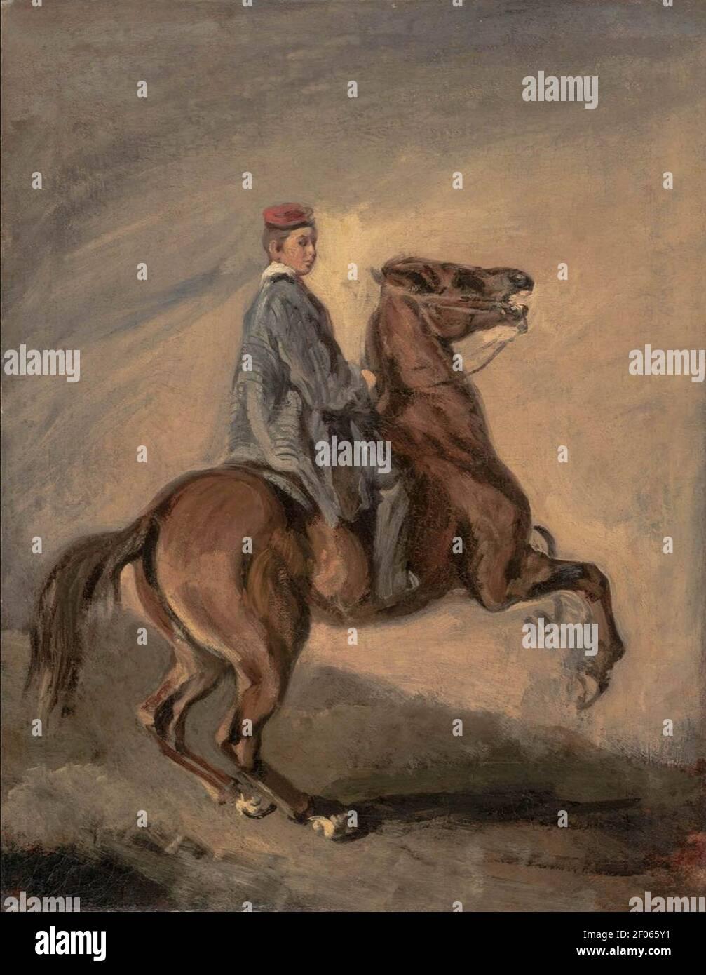 Piotr Michałowski Błękitny chłopiec 1853-1855 Muzeum Śląskie Katowice Polonia. Foto Stock