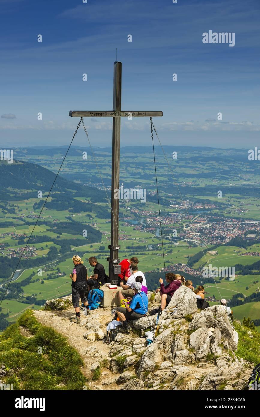 Geografia / viaggio, Germania, Baviera, panorama dal Rubihorn (picco), 1957m, nella Valle Iller, Allgae, Freedom-of-Panorama Foto Stock