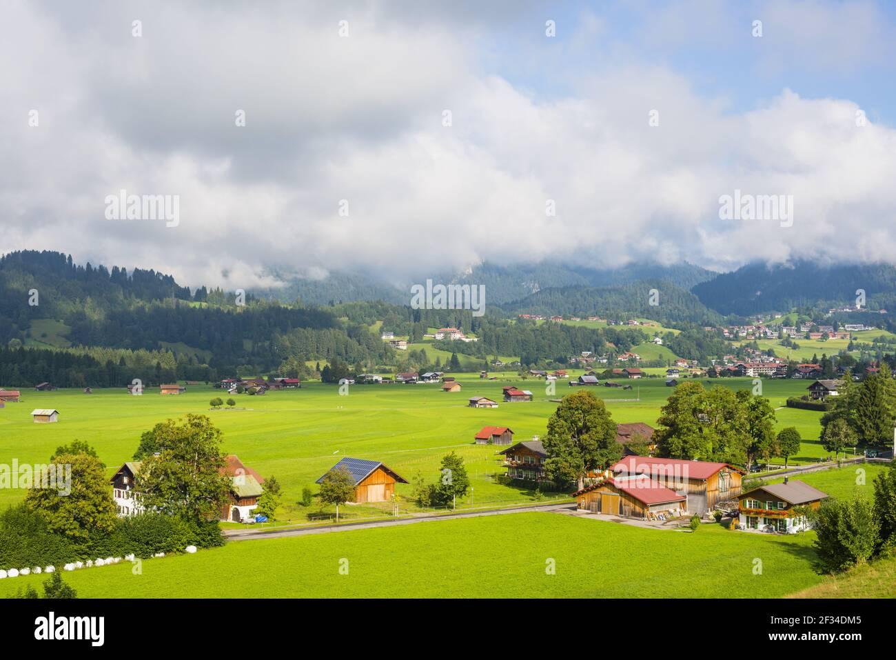 Geografia / viaggio, Germania, Baviera, Loretto Wiesen, terre comuni a sud di Oberstdorf, Allgaeu superiore, Freedom-of-Panorama Foto Stock
