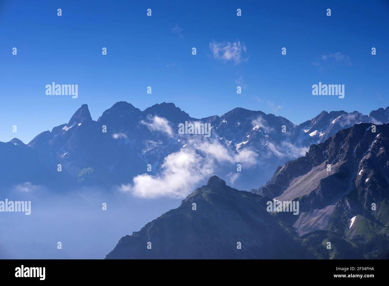 Geografia / viaggio, Germania, Baviera, cresta principale delle Alpi Allgaeu, Allgae, Freedom-of-Panorama Foto Stock