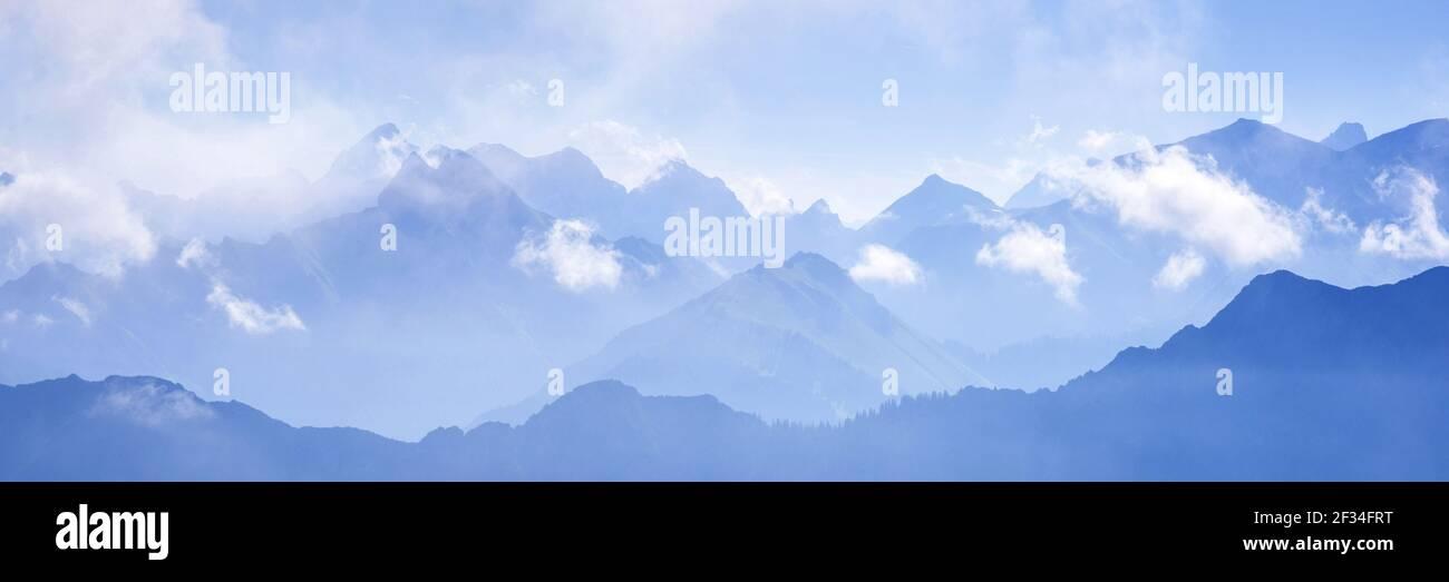 Geografia / viaggio, Germania, Baviera, Alpi Allgaeu, Allgaeu, Libertà di panorama Foto Stock