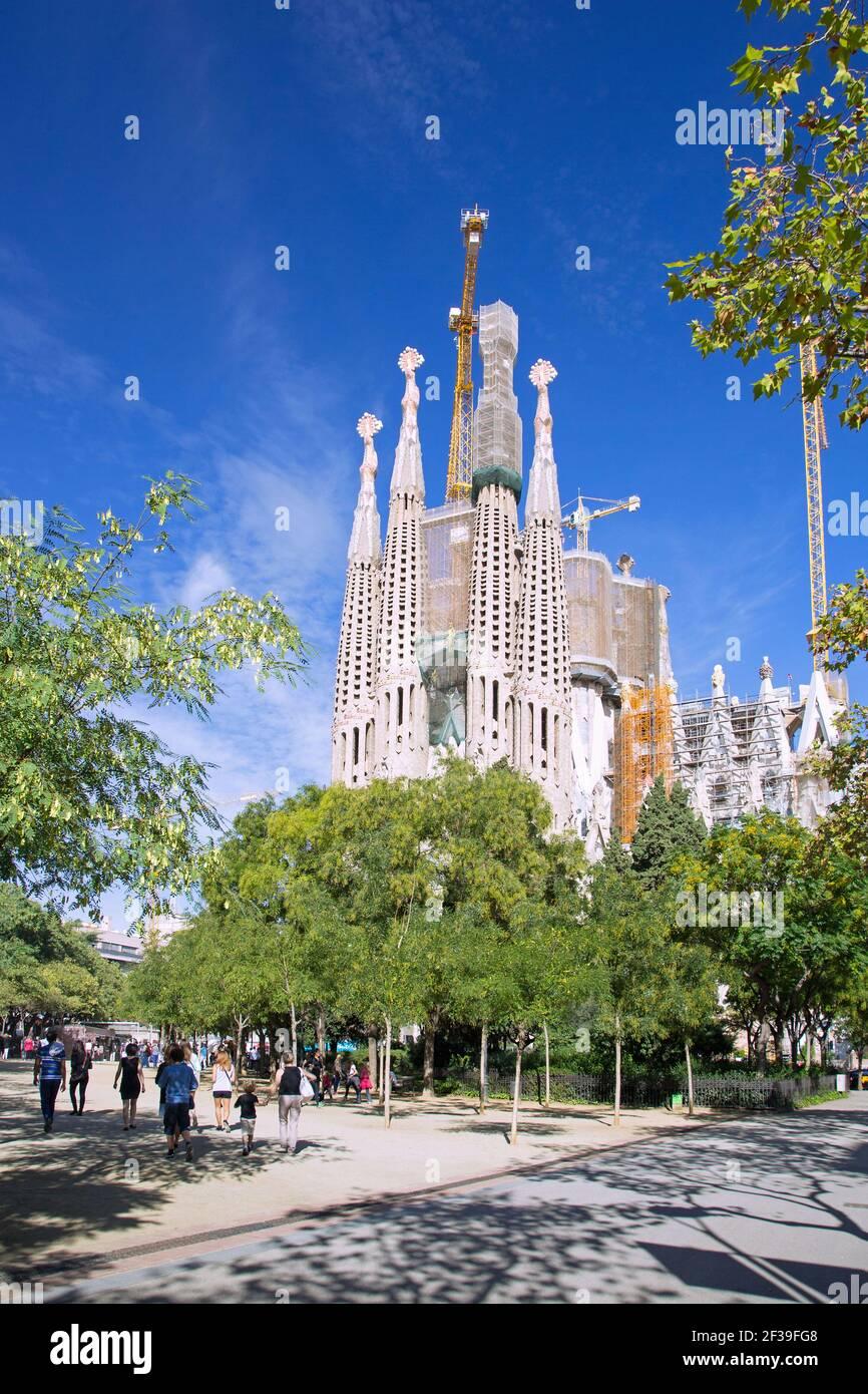 Geografia / viaggio, Spagna, Barcellona, Sagrada Familia, Passione facciata, Antoni jamboree, Additional-Rights-Clearance-Info-non-disponibile Foto Stock