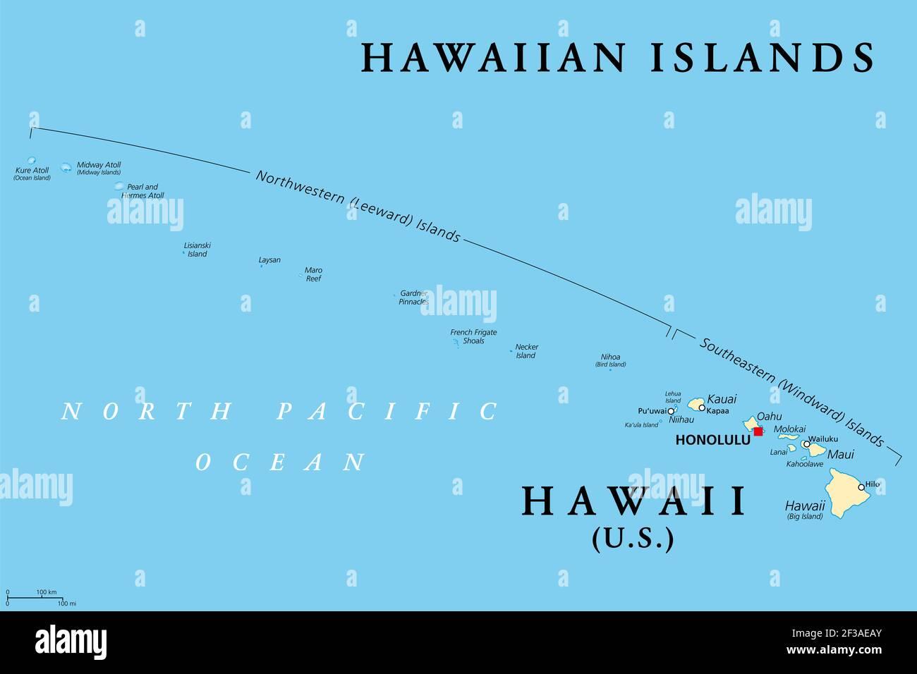 Cartina Mondo Hawaii.Oahu Hawaii Map Immagini E Fotos Stock Alamy