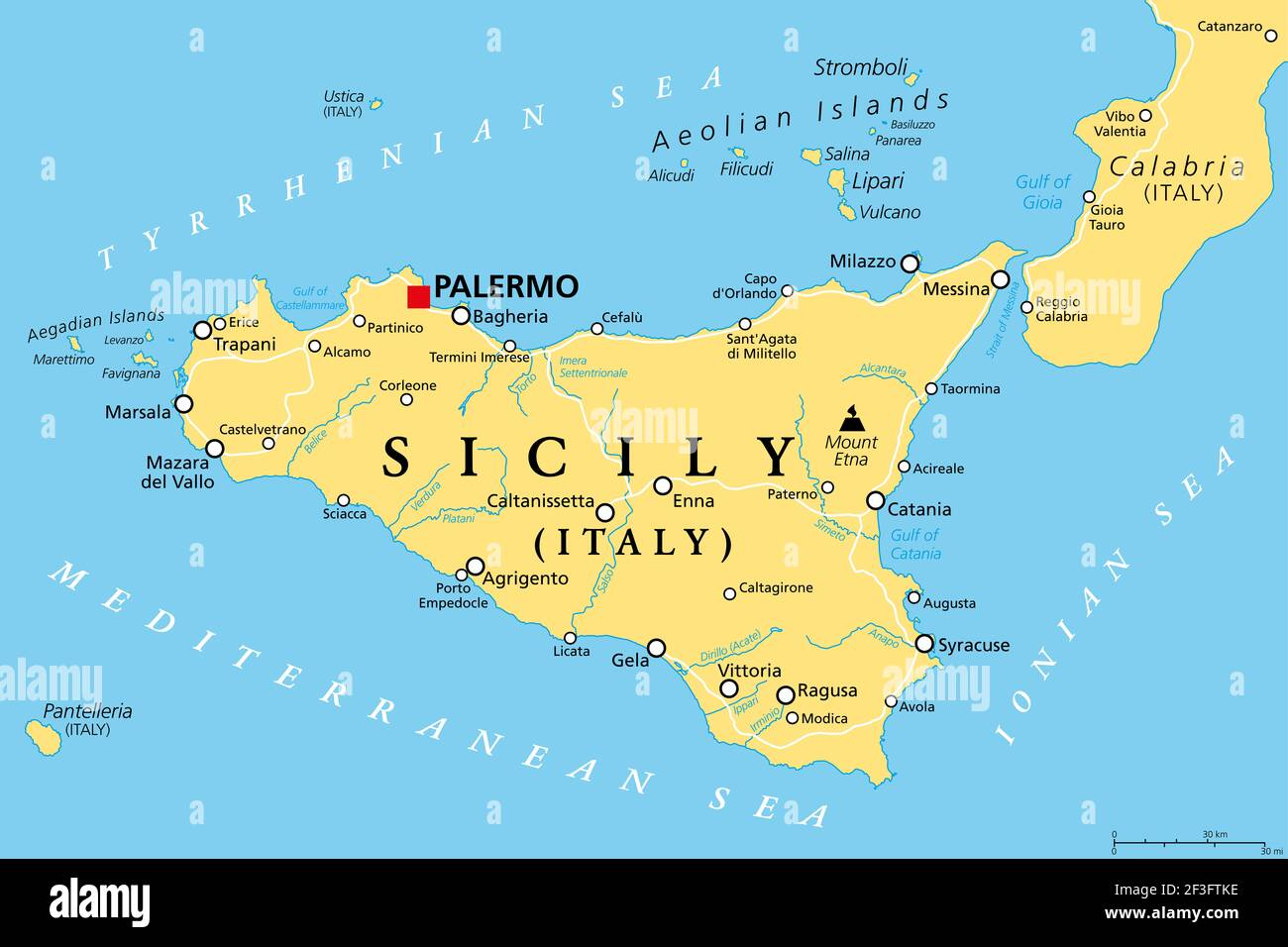 Cartina Ferroviaria Sicilia.Mappa Di Palermo Immagini E Fotos Stock Alamy