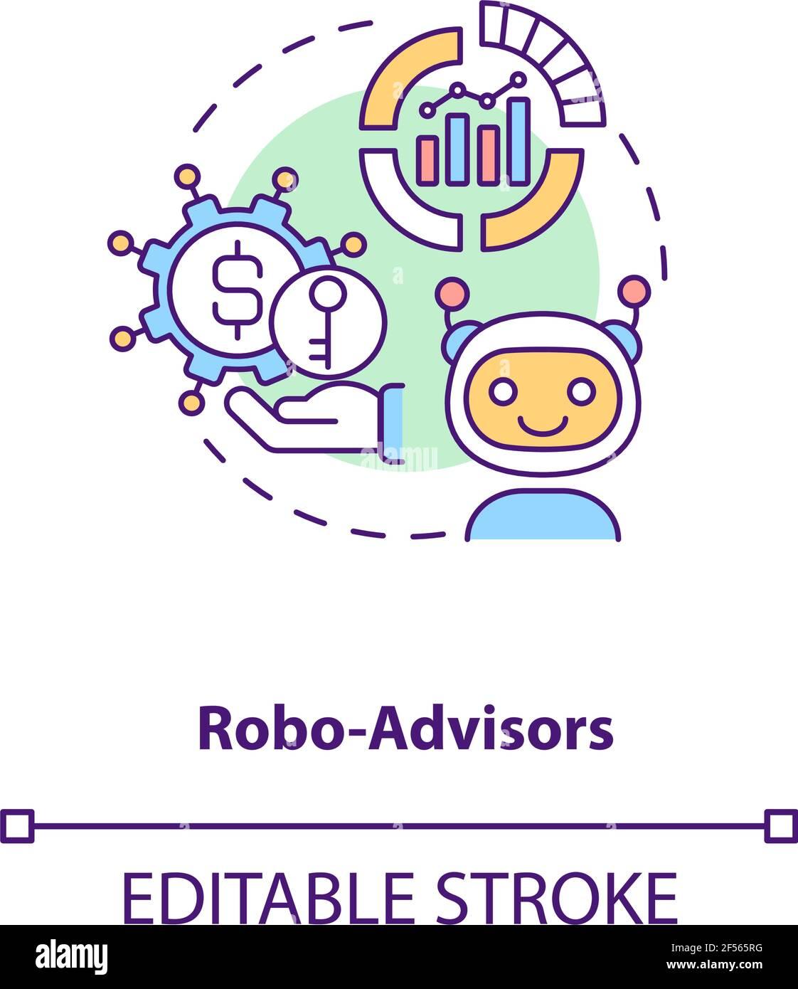 Icona del concetto di Robo-ADVISOR Illustrazione Vettoriale