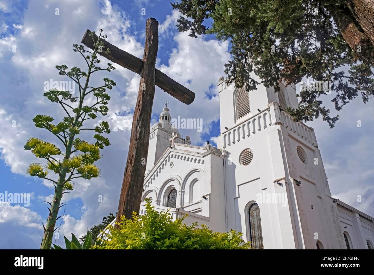 Cattedrale dell'Incarnazione / Catedral de la Encarnación, Chiesa cattolica romana nella città Encarnacion, Itapúa, Paraguay Foto Stock