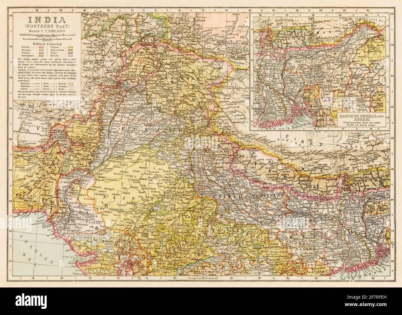 Cartina Dell India Del Nord.Mappa Dell India Immagini E Fotos Stock Alamy
