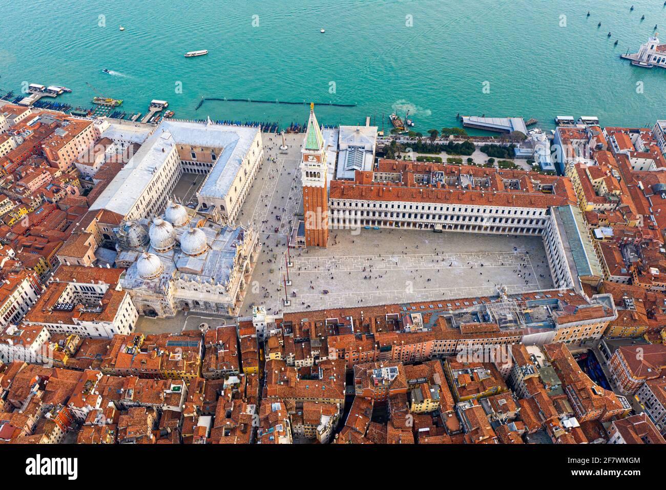 Piazza San Marco e Basilica di San Marco Foto Stock
