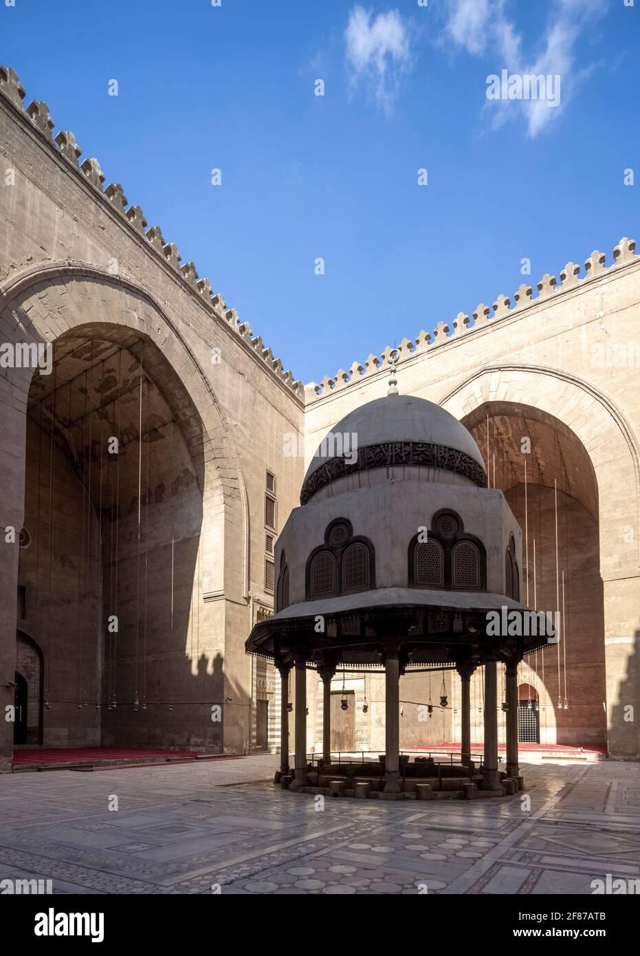 Sultan Hasan complesso, il Cairo Foto Stock