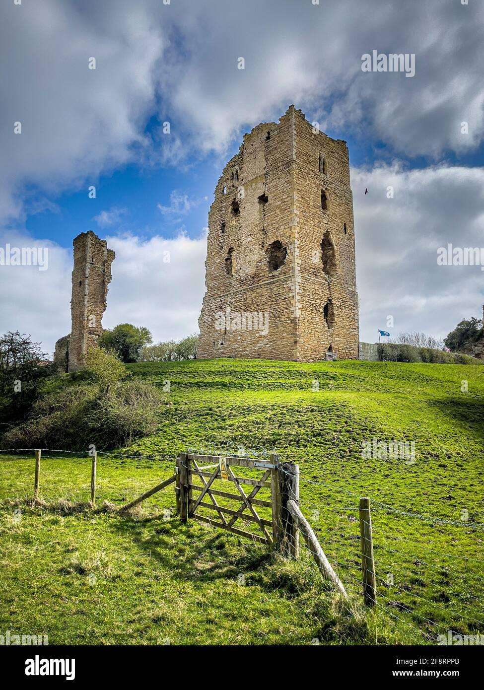 Sheriff Hutton Castle, Sherif Hutton, vicino York, Regno Unito. Foto Stock
