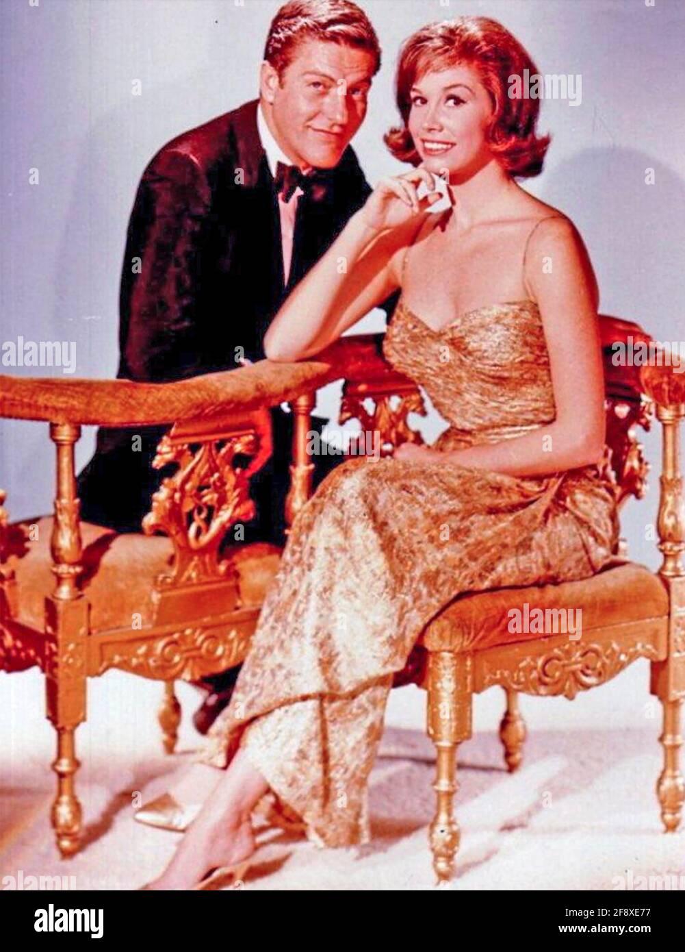 IL DICK VAN DYKE MOSTRA CBS SERIE TV 1961-1966 CON Mary Tyler Moore e Dick Van Dyke Foto Stock