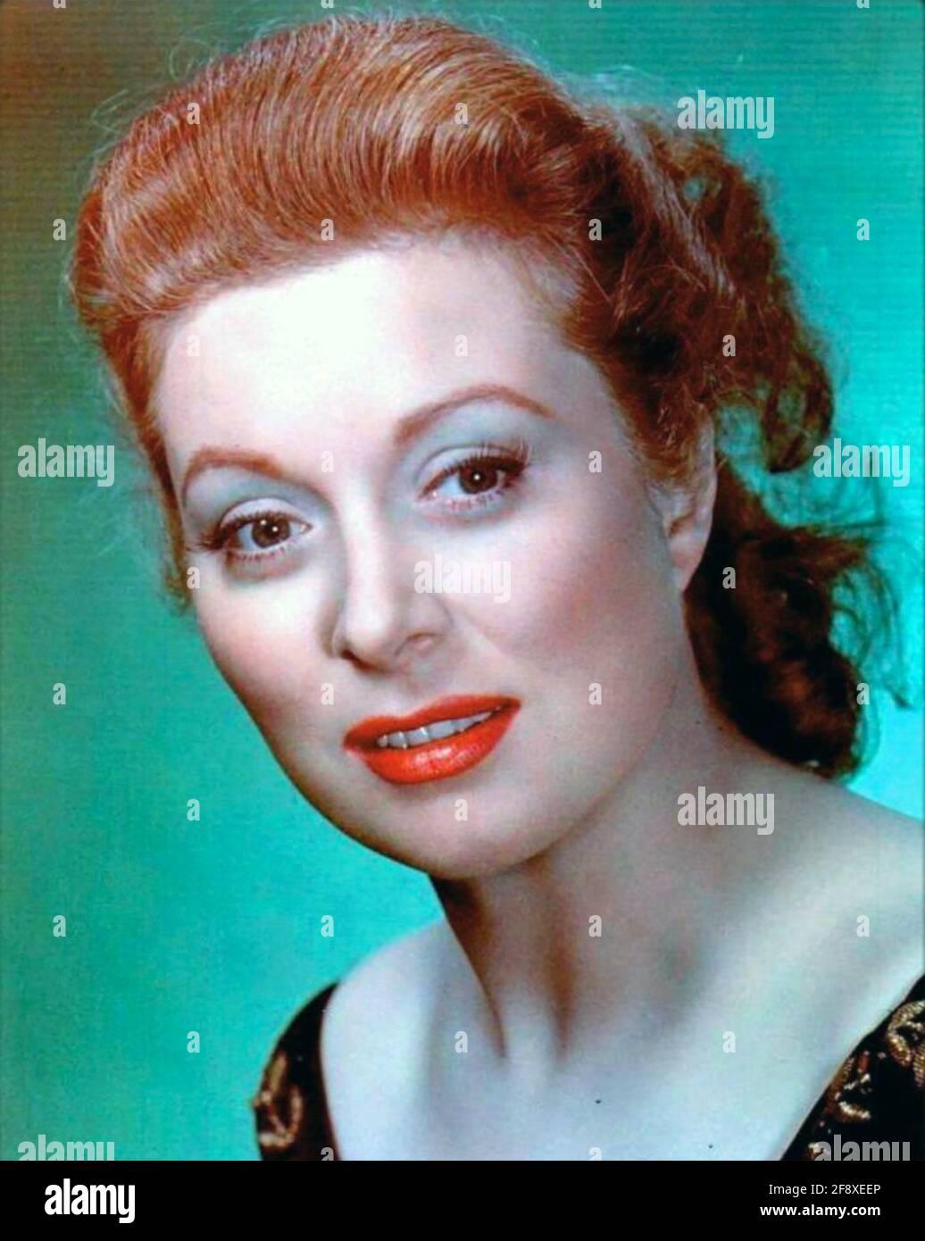 GREER GARSON (1904-1996) attrice cinematografica americana circa 1945 Foto Stock