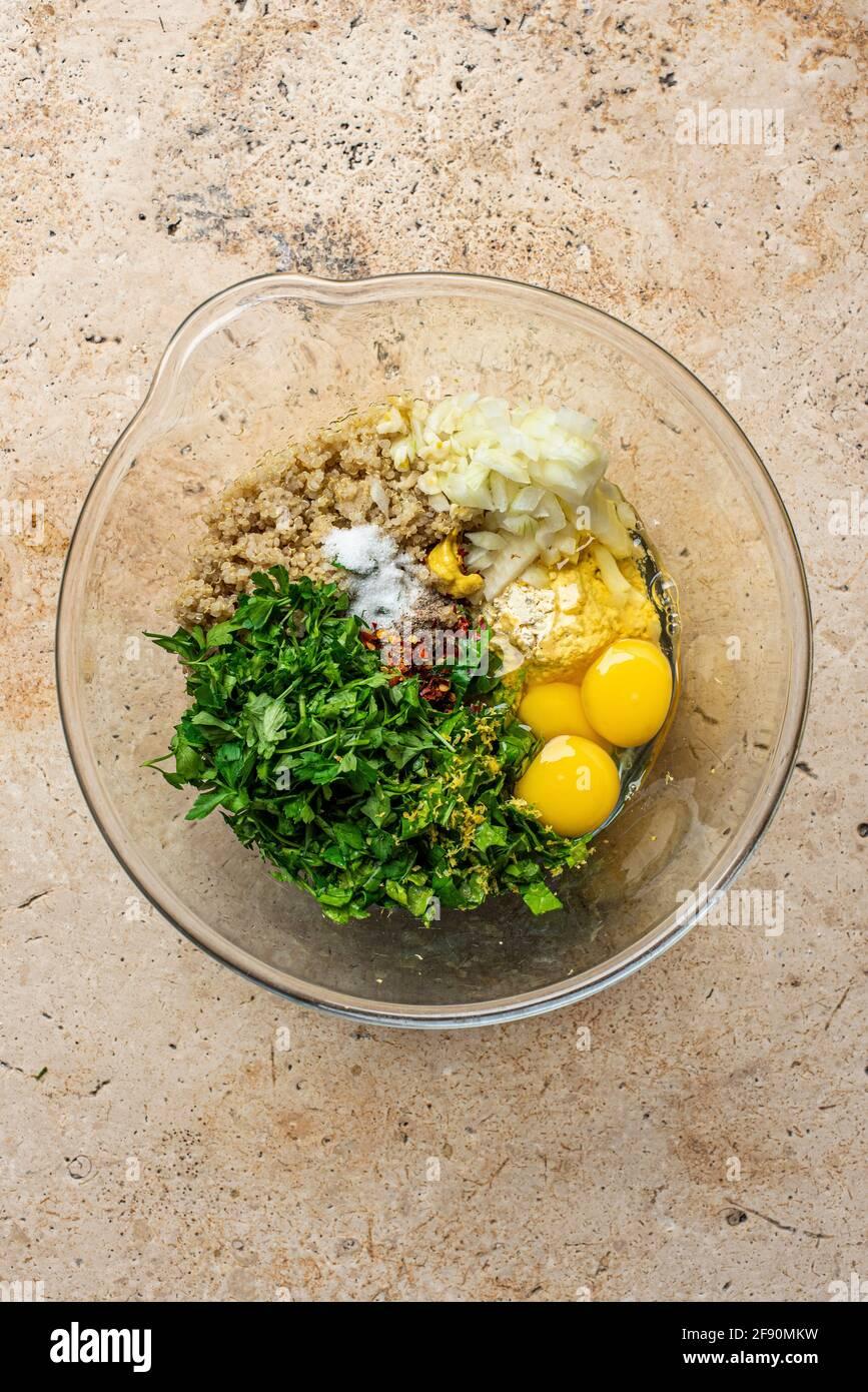 Fare le pattuglie di Quinoa Foto Stock