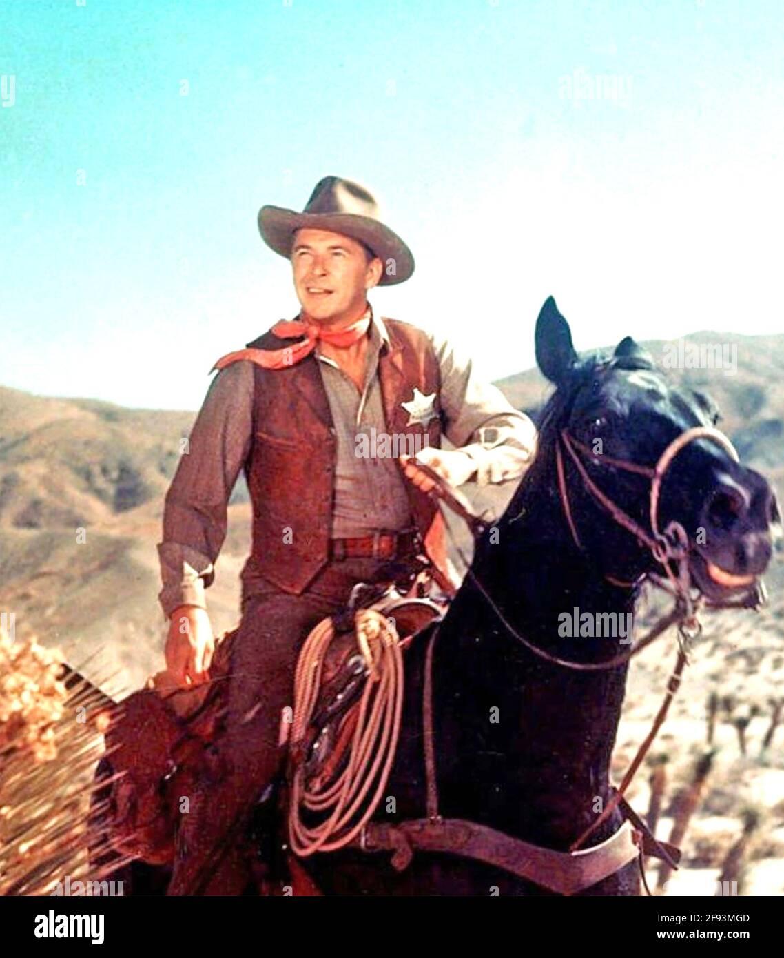 LEGGE E ORDINE 1953 Universal Pictures film con Ronald Reagan Come US marshall telaio Johnson Foto Stock