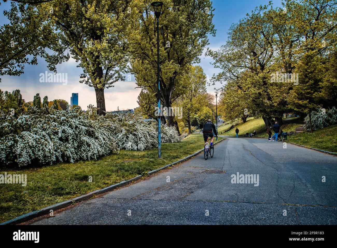 Italia Piemonte Torino Parco del Valentino, Foto Stock