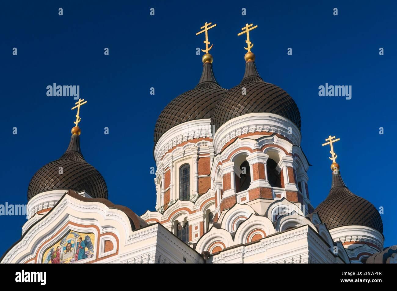 La Cattedrale Alexander Nevsky Toompea Tallinn Estonia Foto Stock