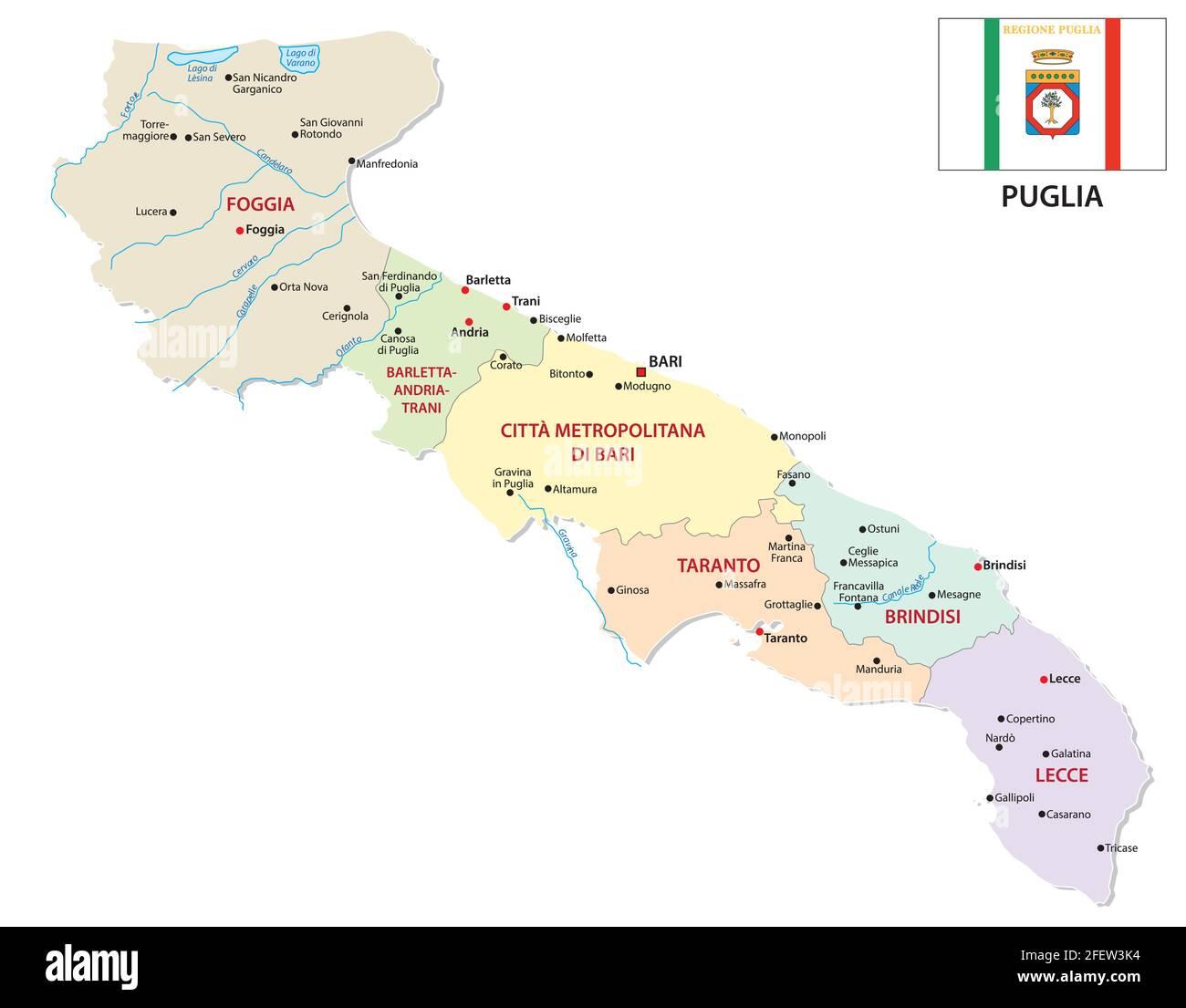 Cartina Puglia Con Province.Vettore Di Mappa Di Puglia Immagini E Fotos Stock Alamy