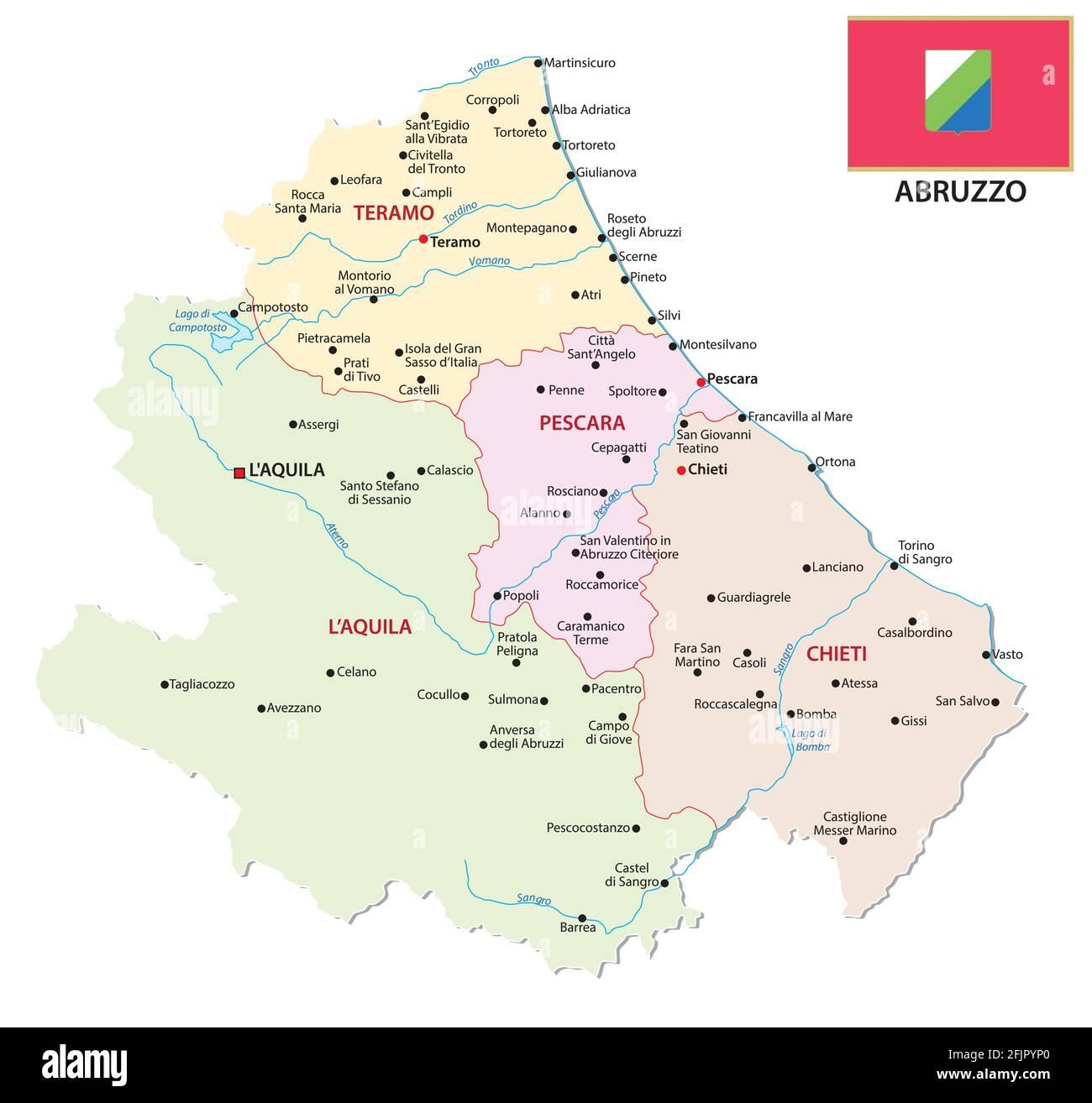 Cartina Abruzzo Umbria.Abruzzo Mappa Vettoriale Immagini E Fotos Stock Alamy
